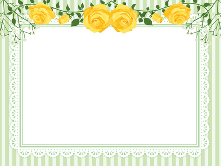 Roses garland decoration card yellow 09