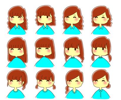 Hairstyle summary Arrange