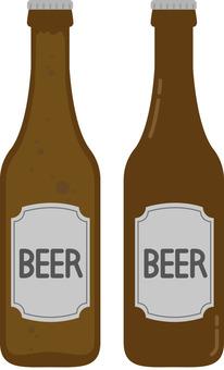 Bottled beer (beer bottle, beer)