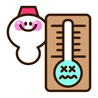 Snowman and thermometer