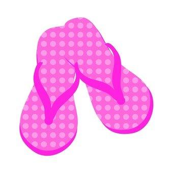Beach sandals (pink)
