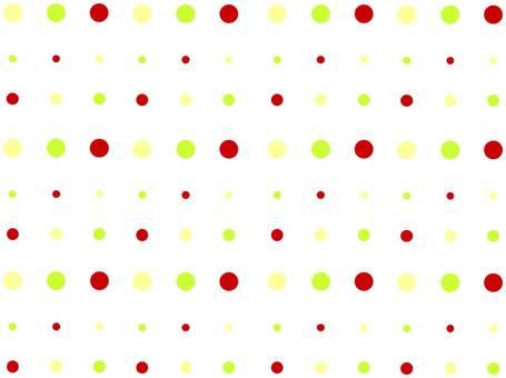 Image of dandelion with polka dot pattern