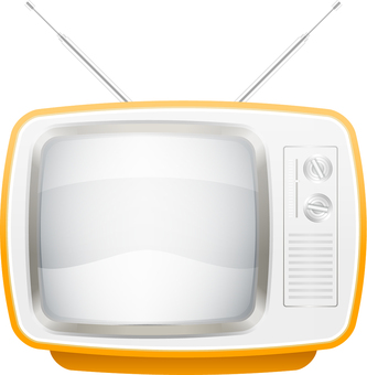 TV with retro antenna
