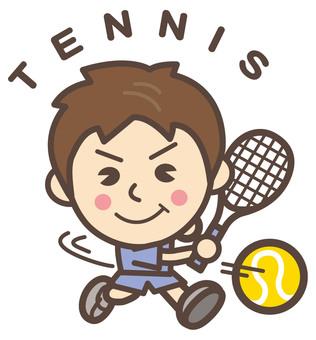 Rigid tennis (TENNIS) forehand man