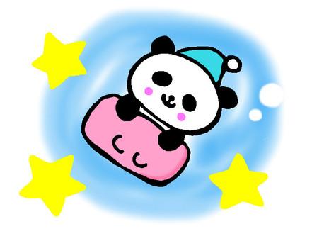 Sleeping panda (pink)