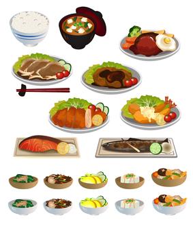 Set meal set