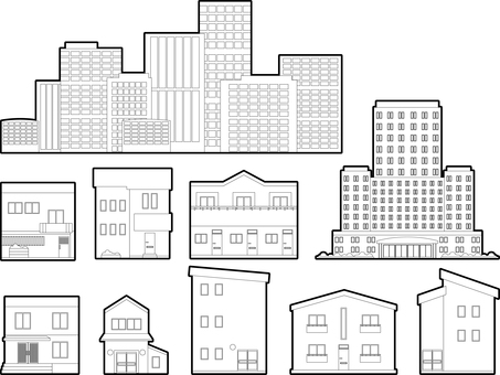 Housing / building (black and white)