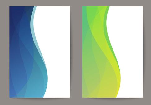 Background design / wave material 7