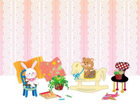 Interior _ Kids room _ Pink