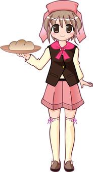 점원 1 핑크 _ 빵