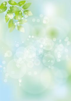 Glittering leaves & sky 56