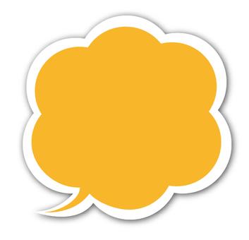 Speech Bubble (Orange)