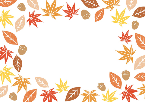 Autumn leaves frame 04