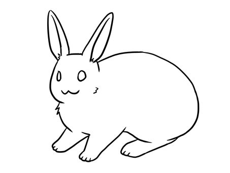 Mini rabbit (line drawing)