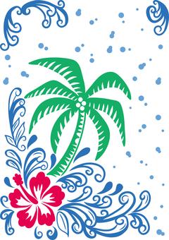 Tropical image material