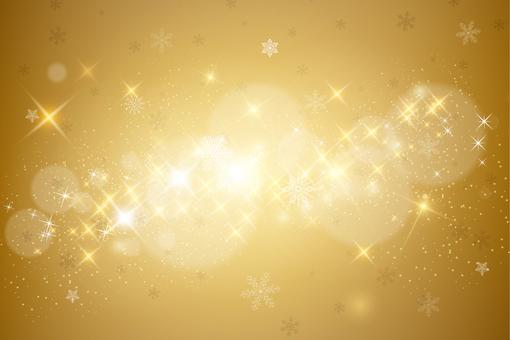 Glittering background gold snow
