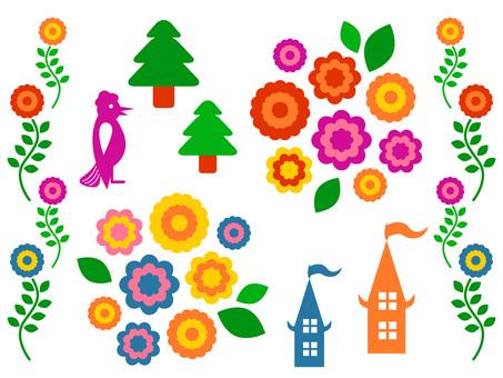 Scandinavian style flowers