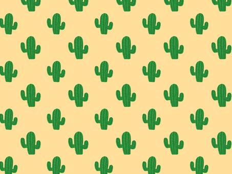 Cactus wallpaper yellow beige