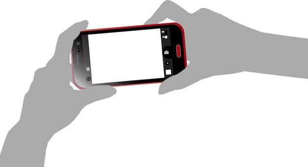 Smartphone camera and hand