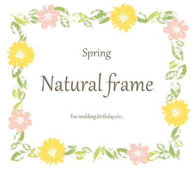Natural Flower Frame