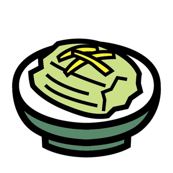 Pickles icon Japanese pickles pickled in Chinese cabbage