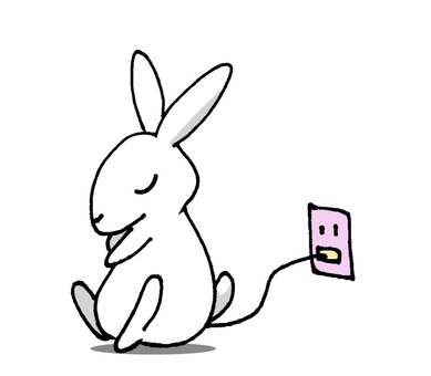 Bunny while charging