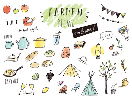 Garden picnic with color