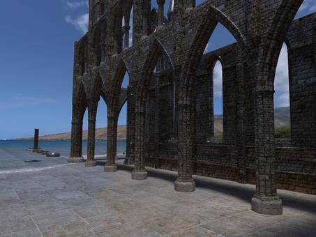 海辺の遺跡