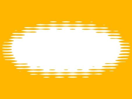フレーム 枠 カラー 丸型 ポストカード