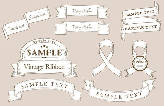 Vintage ribbon material 2