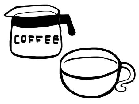 Coffee pot coffee cup