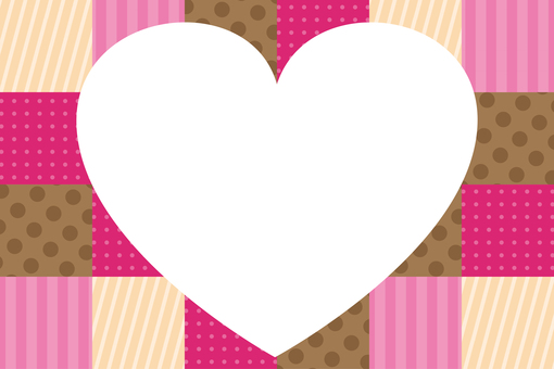 Patchwork Heart Frame
