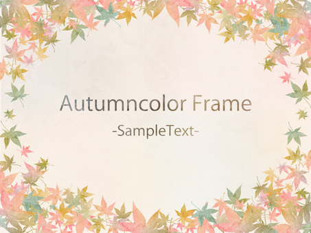 Autumn color frame 62