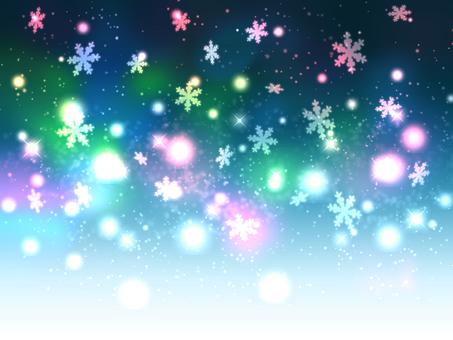 Snowflakes Glade Winter wallpaper