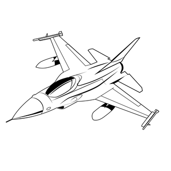 Fighter 4 F16 coloring book