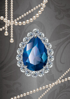 Sapphire and pearl jewelry