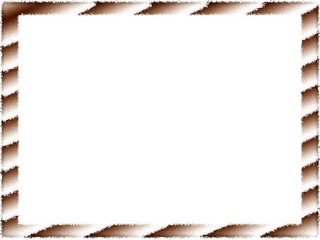 Frame Brown White Stripe