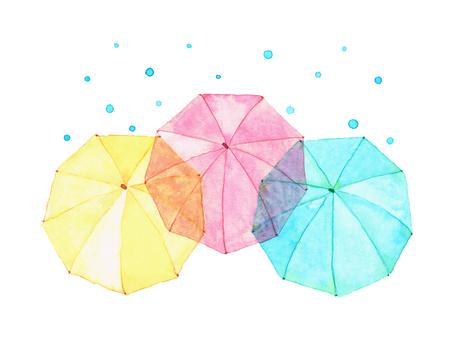 Umbrellas and rain collapses