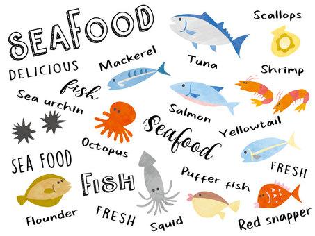 Seafood English set