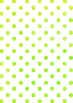 Watercolor dot polka dots texture yellow green vertical