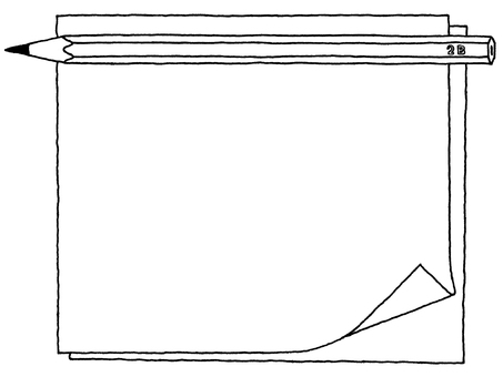 Notepad (pencil pencil) monochrome