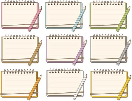 Notes Each color