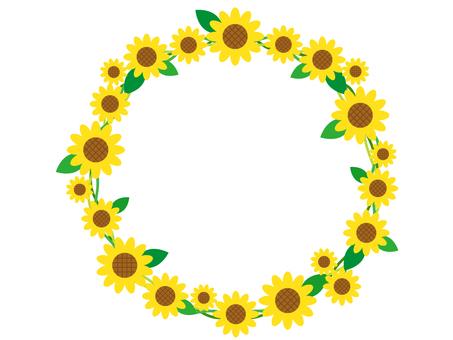 Sunflower 5 round frame