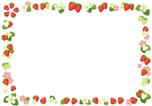 Strawberry flower frame