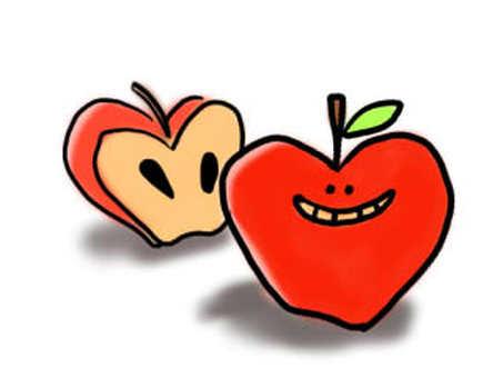 きめきめのリンゴ