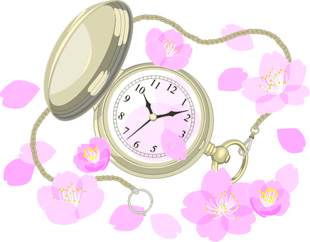 Points of spring pocket watch