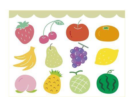 Fruits etc