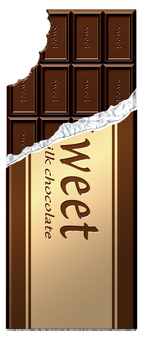 Gnawed board chocolate (vertical) _ with silver paper · wrapping paper