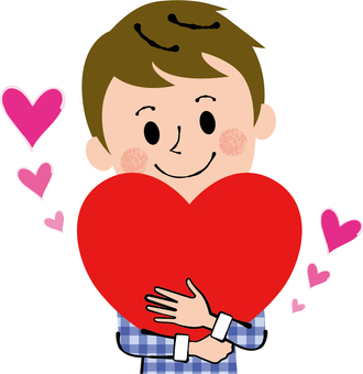 A man holding a heart