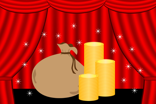 Money placed on stage